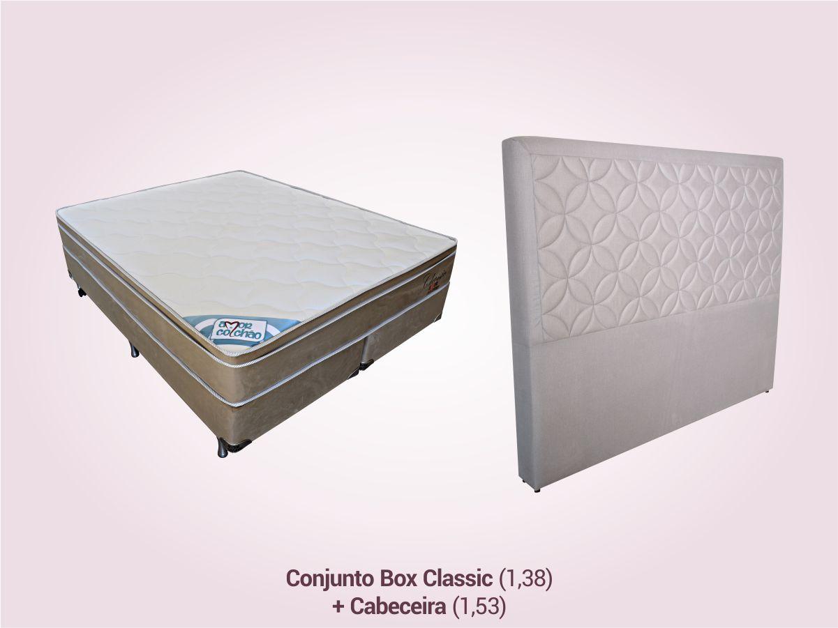 COMBO 7   Conjunto Box Casal + Cabeceira