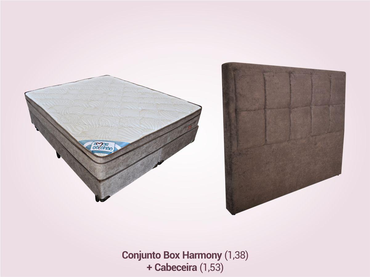 COMBO 8   Conjunto Box Casal + Cabeceira