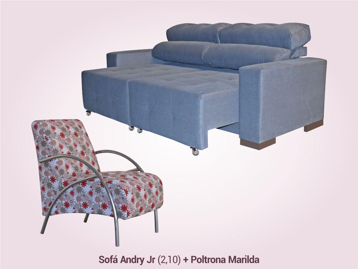 COMBO 1 | Sofá Retrátil/Reclinável + Poltrona